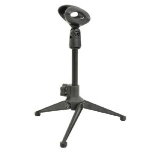 QTX Small Desktop Microphone Mic Stand for Conferencing + Presentations + Radio